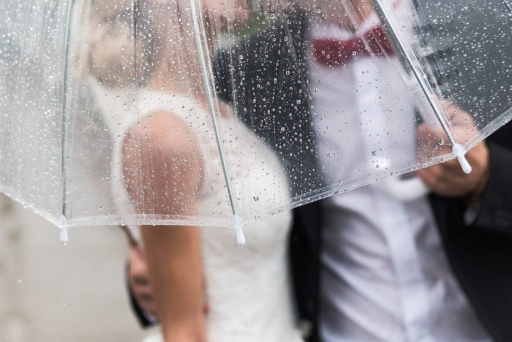 rainy weather on wedding day Hidden Creek Events texas